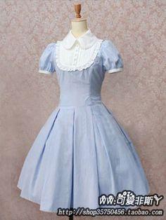 特价洛丽塔淑女软妹小清新风格甜美可爱lolita洋装棉短袖连衣裙夏