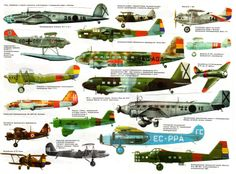 Aircraft of the Spanish Civil War supplied for Europeans and Americans