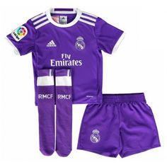 Kids Real Madrid C.F Season Away Soccer Shirts Whole Kit (Shirt+Shorts+Socks),all shirts are AAA+ quality and fast shipping,all the uniforms will be shipped as soon as possible,guaranteed original best quality China shirts Kids Football Shirts, Soccer Shirts, Soccer Jerseys, Real Madrid Shirt, Real Madrid Soccer, Youth Soccer, Kids Soccer, Soccer Uniforms, Soccer Shop