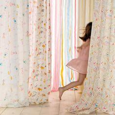 Cortina confeccionada con ollados Mini Home - El Corte Inglés Stripes
