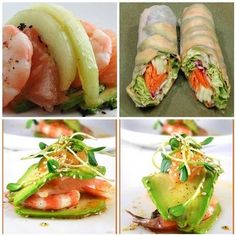 avacado wrapped salad | avocado salad roll. so delicious. lettuce, carrots, cucumber & red ...
