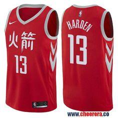 Men s Nike Houston Rockets  13 James Harden Red NBA Swingman City Edition  Jersey Robert Horry 74ba9640a
