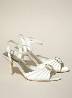 BHS Gold Fashion Wide Fit Diamnte Tbar Sandal GBP28