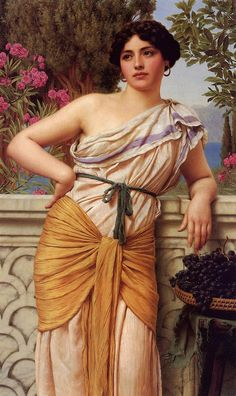 Reverie: 1912 by John William Godward (Private Collection - Location Unknown) Pre-Raphaelite