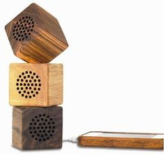 natural wood speakers