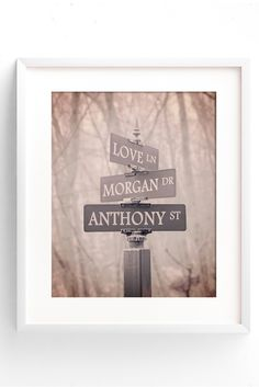Personalized Street Sign Print.  A unique gift for a couple!