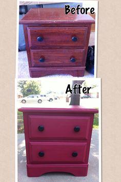 Chalk paint furniture refurb.