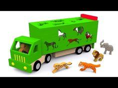 Los animales salvajes para niños. Dibujos animados educativos en español. Learn Spanish - YouTube