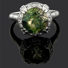 Sapphire Parti Coloured Aust. diamond cluster ring
