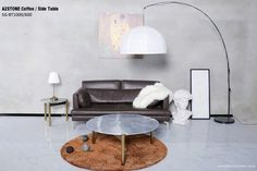 coffee table and side table Marble Furniture, Home Furniture, Modern Loft, Marble Stones, Industrial Style, Natural Stones, Ottoman, Living Room, Coffee