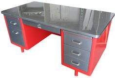 Vintage Tanker Desks | Stainless Steel Furniture | Used Metal ...