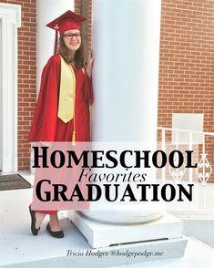 Homeschool graduation favorites for cap, gown, ceremonies, senior portraits. All those memory building resources for graduating your homeschooler!