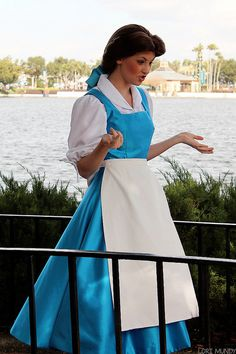 Beauty and the Beast | Belle in BLUE!!!! This is the Belle I want to play one day.