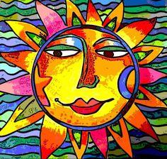 CBS Sunday Morning Sun Art | My Sunface ART as seen on CBS Sunday Morning with Charles Osgood !