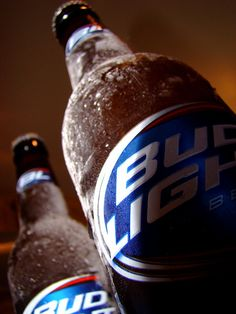 Ice-cold Bud Light