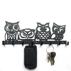 Cheap iron towel, Buy Quality wall key hanging directly from China key wall Suppliers: Four owl iron towel hanging hook key creative black brown wall decoration