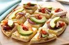 Chicken pizza with avocado and salsa  @amazingavocado #holidayavocado