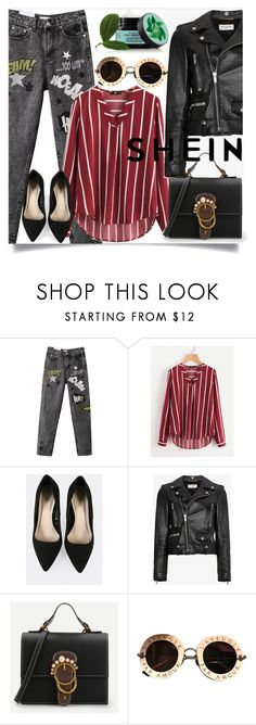 """""""Shein"""" by denka10 ❤ liked on Polyvore featuring Yves Saint Laurent, Gucci and Fuji"""