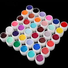 36PCS Mixs Pure Color UV Color Gel(8ml) - USD $ 22.49