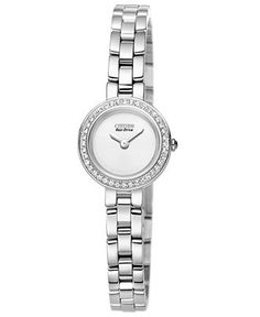 Citizen Watch, Women's Eco-Drive Stainless Steel Bracelet 21mm EX1080-56A - Citizen - Jewelry & Watches - Macy's