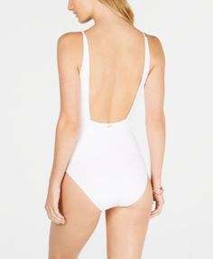 167db85ac Roxy Juniors  Ribbed One-Piece Swimsuit - White XS