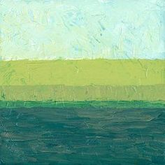 Oil Pastels Featured Images - Ocean Blue and Green  by Michelle Calkins