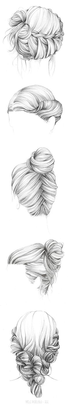 63 Ideas For Fashion Sketches Hair Art How To Draw Braids, How To Draw Hair, Pencil Art, Pencil Drawings, Cool Drawings, Drawing Sketches, Sketching, Realistic Drawings, Hair Sketch