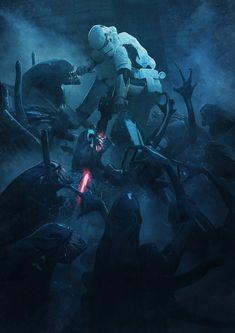 501st Legion: Vader's Fist VS Space Cockroaches 2, Guillem H. Pongiluppi on ArtStation at https://www.artstation.com/artwork/XavAy