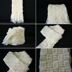 Crochet Scarf in Basket Weave Pattern