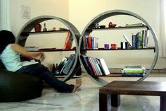 Baratos libreros de concreto | Interiores