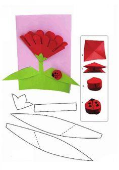 Открытка для мамы с цветами :: Поделки к праздникам
