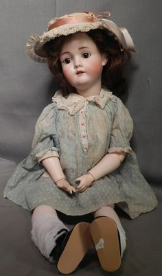 Antique K H Kley Hahn Walkure Germany Bisque Doll Jointed Compo Body 23inch | eBay