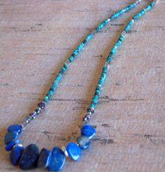 Turquoise Lapis Lazuli Labradorite Mini Titanium by Cheshujewelry