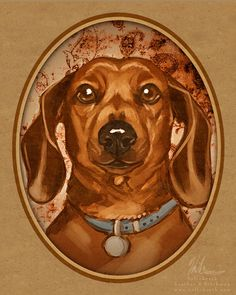helloheath-art: Probably one of my favorite breeds of all time :-) (lil hot doggies!) Commission for one of my facebook fans, usually I do m...