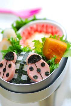 てんとうむしのお弁当 - てしぱんさんの簡単かわいいおべんとさん レシピブログ - 料理ブログのレシピ満載!