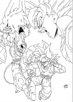 goku dragon ball z anime coloring pages for kids printable free coloring pages pinterest. Black Bedroom Furniture Sets. Home Design Ideas