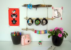 IL PAMPANO kids design: Driftwood Washi  tape organizer