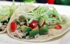 Recipe for Quickie Taco Tuna Fish Tacos - A can of tuna and a few key ingredients will make four of the finest (and coolest) tacos you've ever had. At least in a pinch.