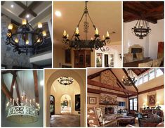 Our Work | Wrought Iron Light Fixtures | Illuminaries Lighting Wrought Iron Light Fixtures, Iron Chandeliers, Spanish House, Custom Lighting, This Is Us, Custom Design, Design Inspiration, House Design, Ceiling Lights