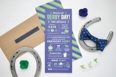 wishfully thinking about the kentucky derby and what my hat would look like while gushing over these lauren chism derby party invites!