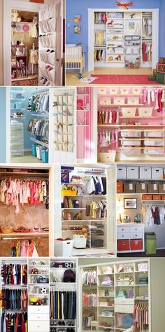 Baby Closet Organizing Ideas  I absolutely L-O-V-E the idea of a walk-in closet for my baby. Then it will be really useful for the other kiddo(s), once they start sharing a room...