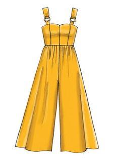 Misses Dresses Romper and Jumpsuit Sewing Pattern jumpsuitromper Dress Design Drawing, Dress Design Sketches, Fashion Design Sketchbook, Dress Drawing, Fashion Design Drawings, Fashion Sketches, Drawing Sketches, Drawing Tips, Dress Designs