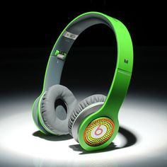 Beats By Dre Solo HD High Definition On-Ear Headphones Green With Colorful Diamonds $132.90
