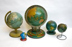 "14 October 2010 :: ""Day 270 —Vintage globes (part two),"" by Lisa Congdon. From her ""A Collection a Day, 2010"" blog: ""This is a blog documenting a project that will span exactly one year, from January 1, 2010 to December 31, 2010.... The only rule is that I must photograph or draw a whole or part of a collection each day for 365 days and post the result here on this blog.... The practice of collecting and documenting collections is as old as the hills. I want onlookers here to know that I do…"