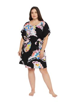 TRINA TURK:PLUS SEYCHELLES TUNIC | Gateway to the Beaches Wine Gift Boxes, Wine Gifts, Trina Turk, Seychelles, Best Sellers, Cover Up, Cold Shoulder Dress, Tunic, Plus Size