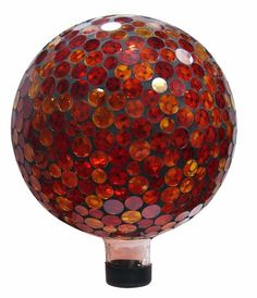 This Mosaic Gazing Globe Utilizes Individually Hand-Blown Glass Pieces Creating A Beautiful Array Of Golds And Reds Along With Other Colors, Making A Great Addi Garden Statues, Garden Sculptures, Mosaic Designs, Glass Globe, Garden Supplies, Cherub, Mosaic Glass, Stained Glass, Hand Blown Glass