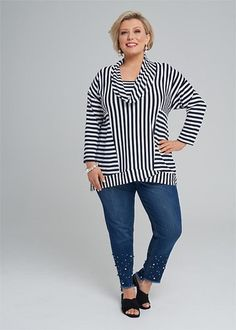 Kledingtips voor de kleine vrouw met een grote maat. Cool Outfits, Casual Outfits, Well Dressed, Plus Size Fashion, Nice Dresses, Lifestyle, Elegant, How To Wear, Cotton