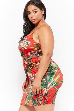 Plus Size Mock Wrap Twist-Front Mini Dress Thick Girl Fashion, Curvy Women Fashion, Fashion Tips For Women, Plus Size Fashion, Plus Size Beauty, Beauty Full Girl, Curvy Outfits, Plus Size Outfits, Plus Zise