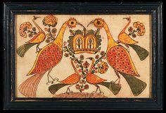 Fraktur Motifs from the Met.  Attributed to Johann Heinrich Otto