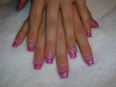 Hot Pink Glitter this be a cute idea to do too~ I would make one nail pink or sliver color to go on top of my neon pink nails for this spring & summer :)